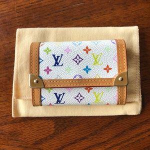 Louis Vuitton White Multicolor Small Wallet